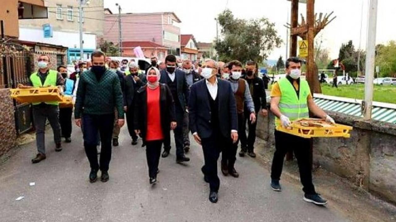 AK Partili belediyeden 'lebalep' pide dağıtımı!