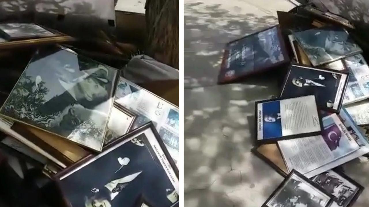 Atatürk'ü ve İstiklal Marşı'nı ''çöpe'' attılar!