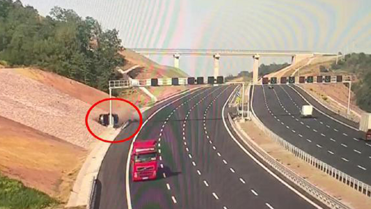 Fahri konsolosun öldüğü kaza kamerada