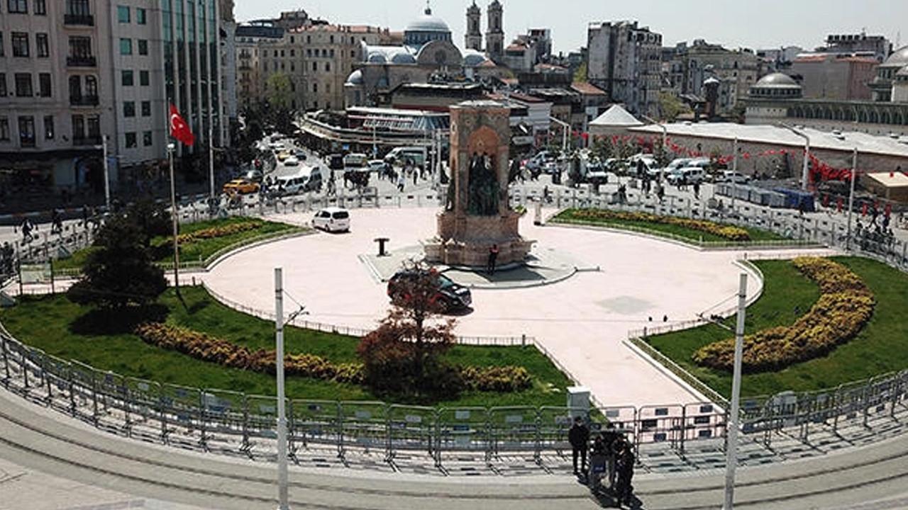 Taksim Meydanı'nda 1 önlemleri havadan görüntülendi