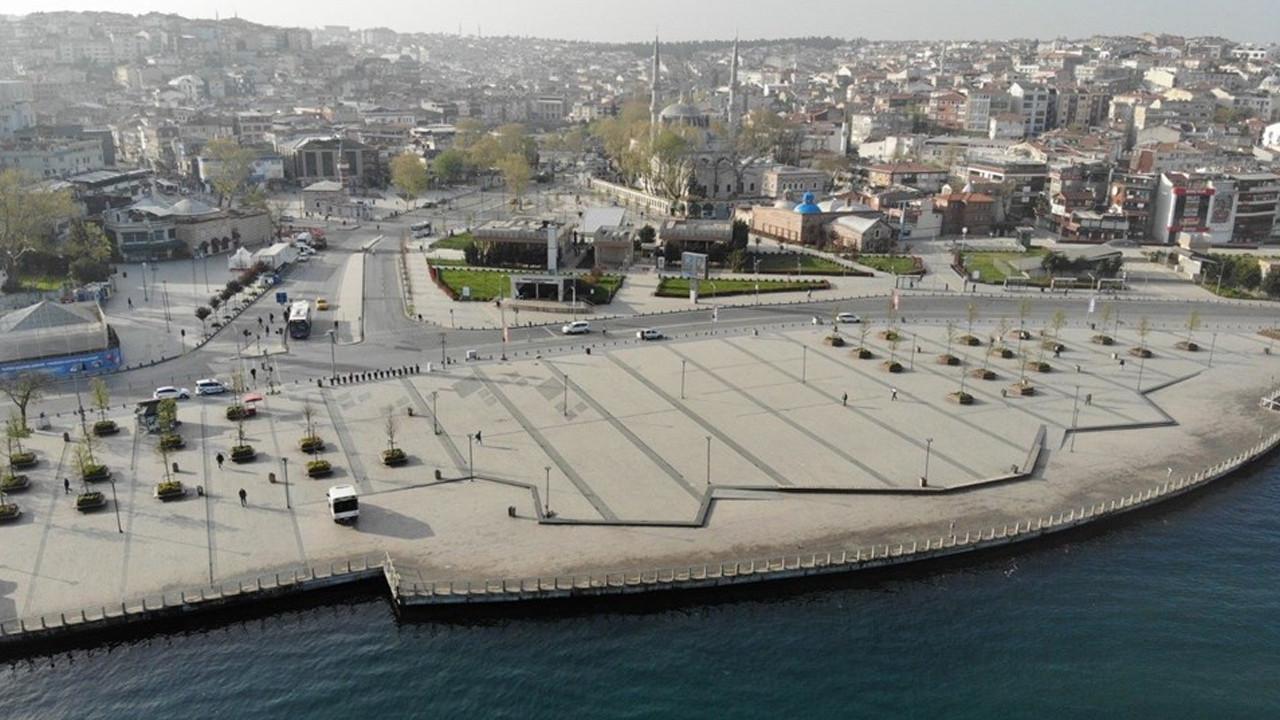 İstanbul'un meydanlarından ''tam kapanma'' manzaraları