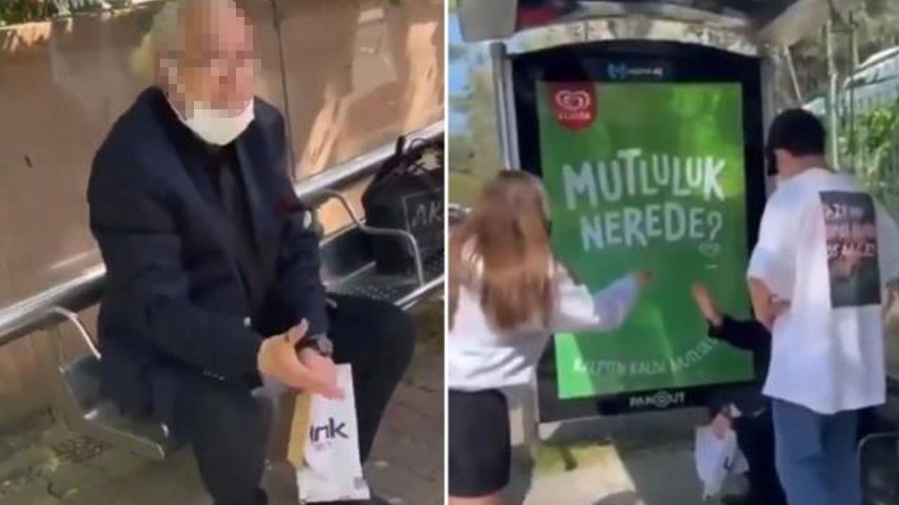 Genç kadını taciz eden yaşlı adamdan pes dedirten savunma!