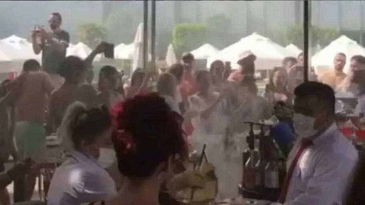 Antalya'da otelde yüzlerce kişilik skandal ''koronavirüs'' partisi