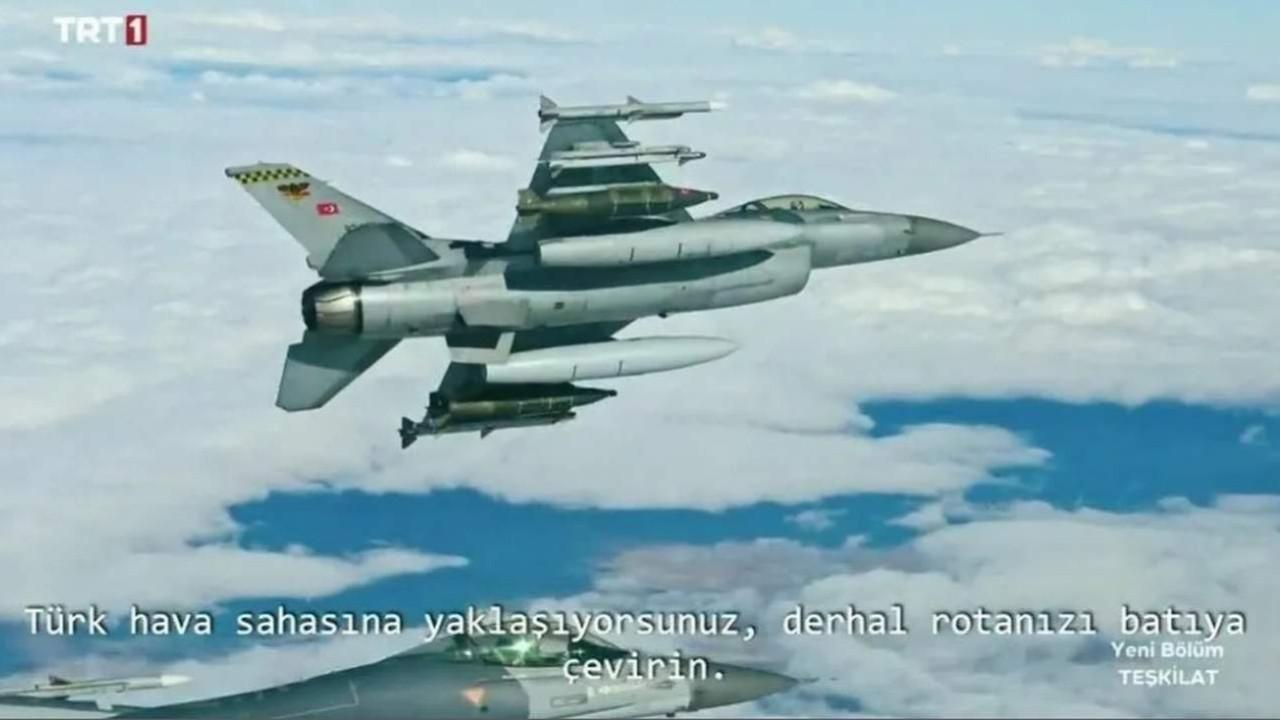Teşkilat dizisine damga vuran F-16 sahnesi