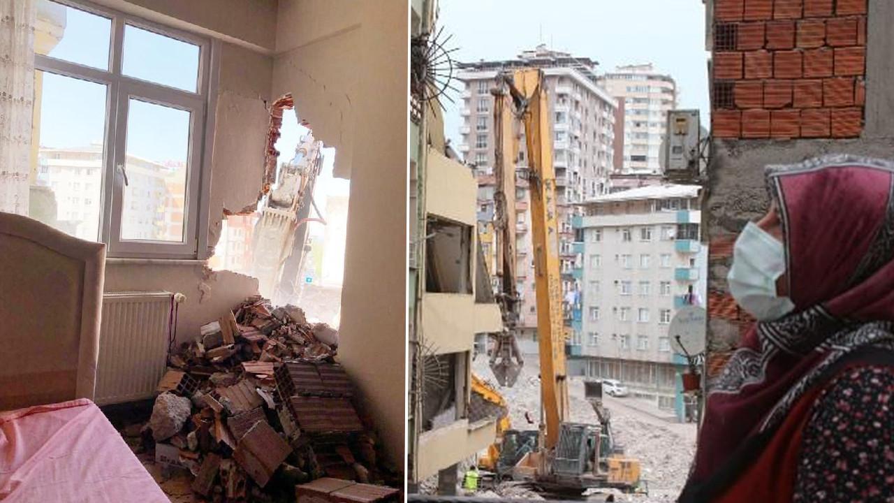 Rize'de isyan ettiren yıkım! Korkudan evde duramıyorlar