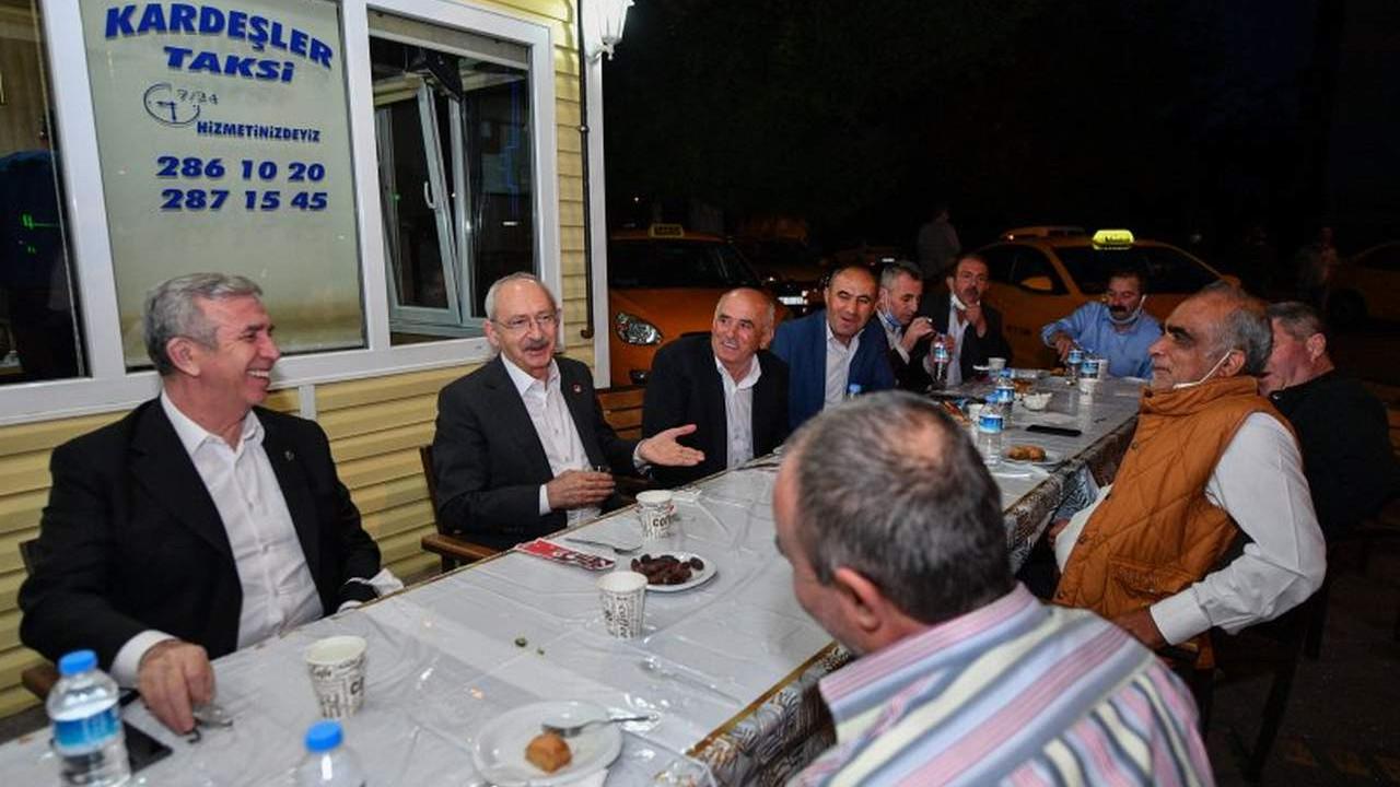 Kılıçdaroğlu ve Mansur Yavaş Ankara'da taksici esnafı ile iftar yaptı