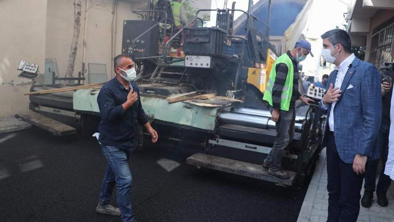 Kartal'da mahalle bazlı asfalt çalışmaları devam ediyor