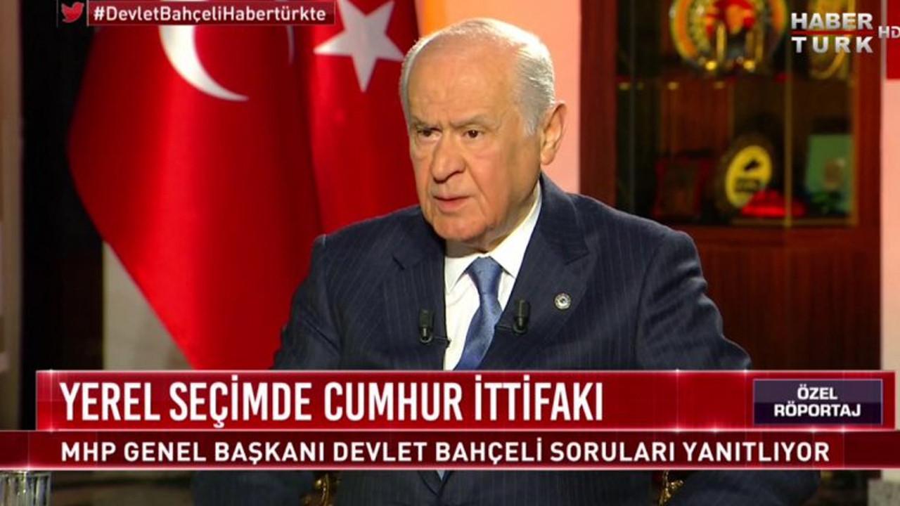 Devlet Bahçeli'den Habertürk'e boykot paylaşımı