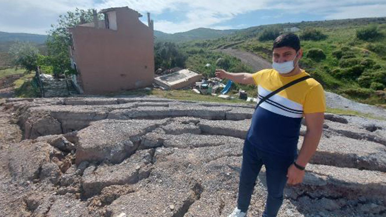 İzmir'de korkutan göçükler! 5 ev daha boşaltıldı