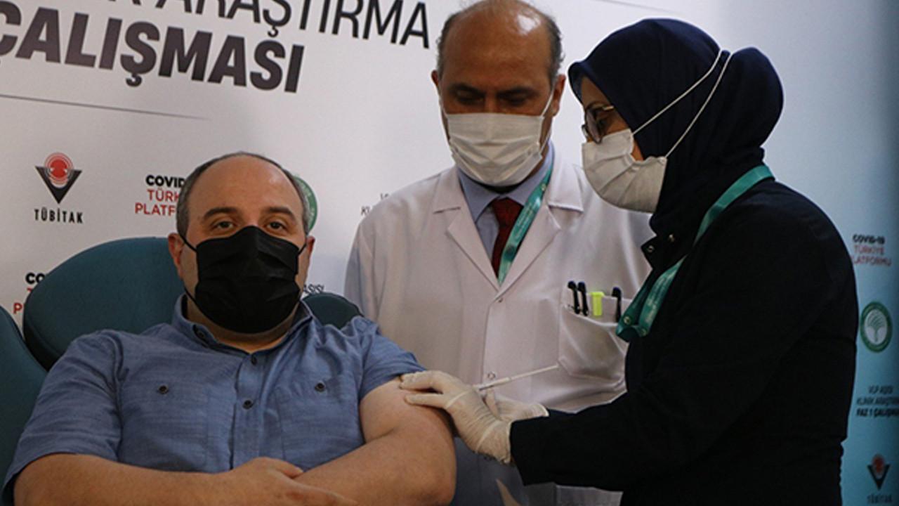 Bakan Varank yerli aşı oldu!