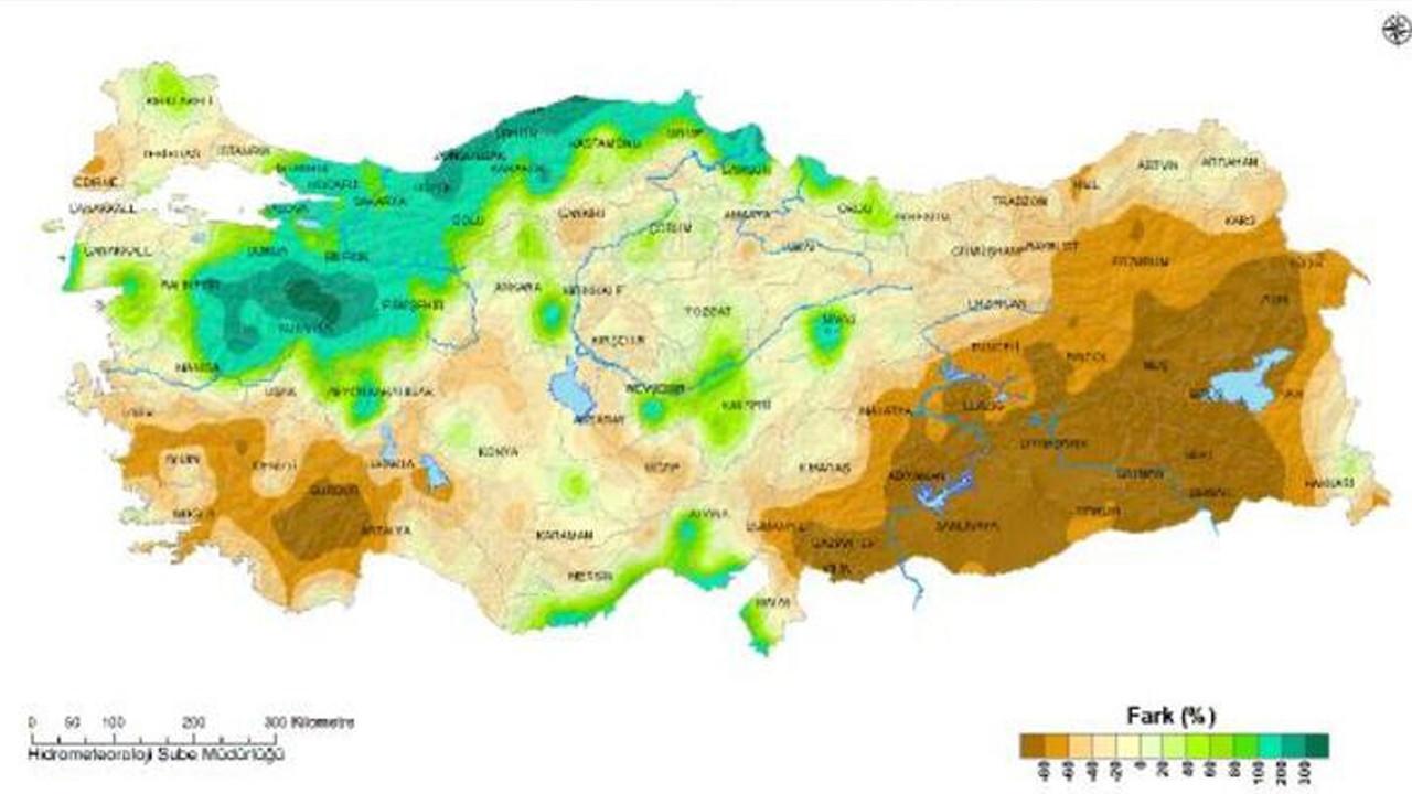 Korkutan harita: Son 50 yılın en düşük seviyesi görüldü