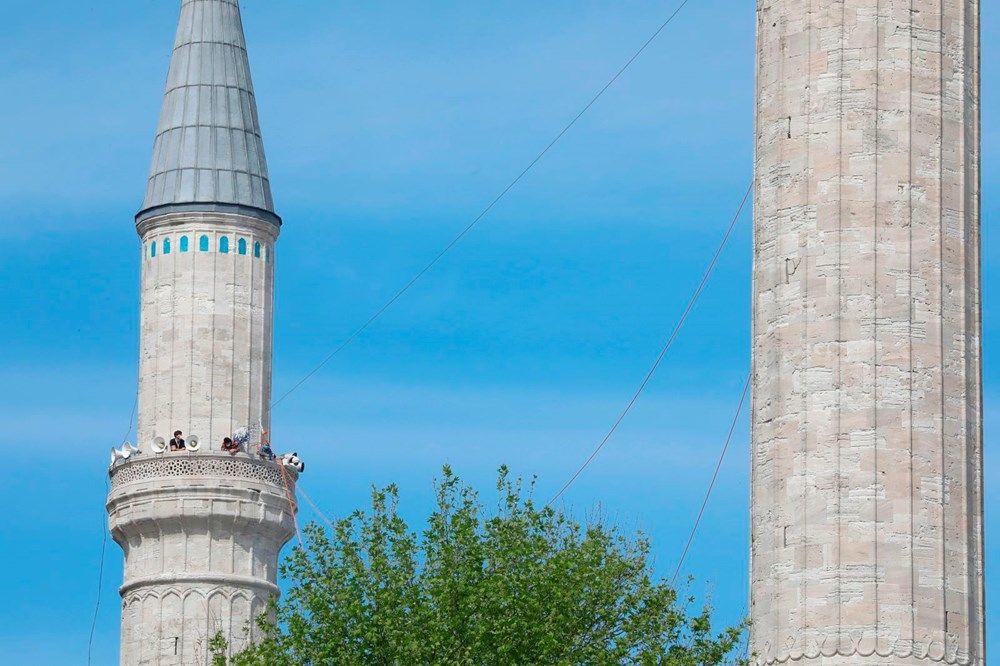 Ayasofya Camii'ne ilk mahya asıldı - Resim: 4