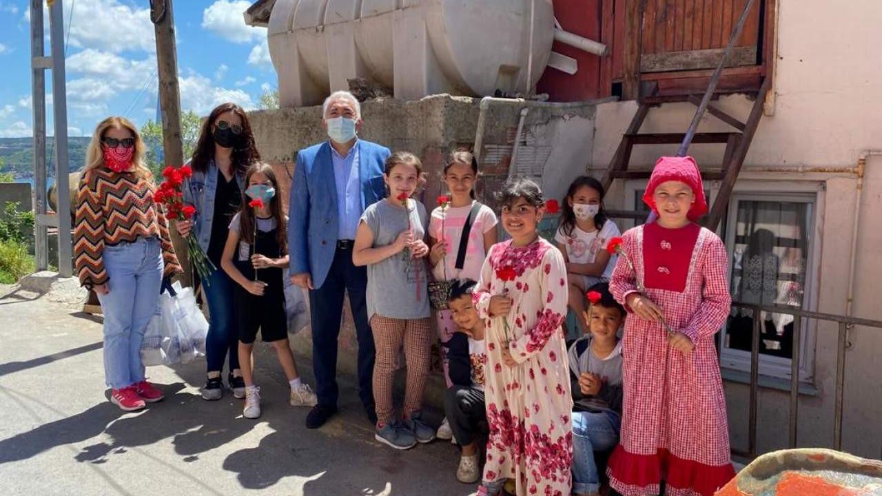 Sarıyer'de annelere sürpriz ziyaret