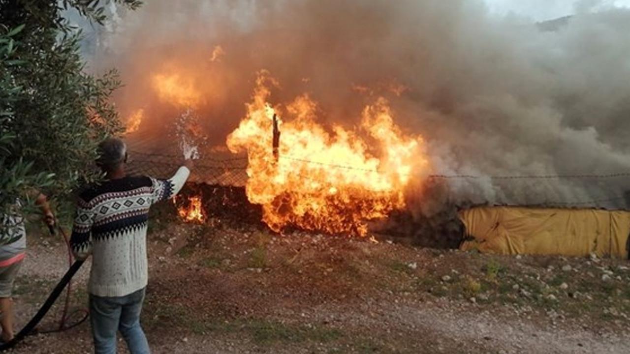 Muğla'da patlama sonucu korkutan yangın