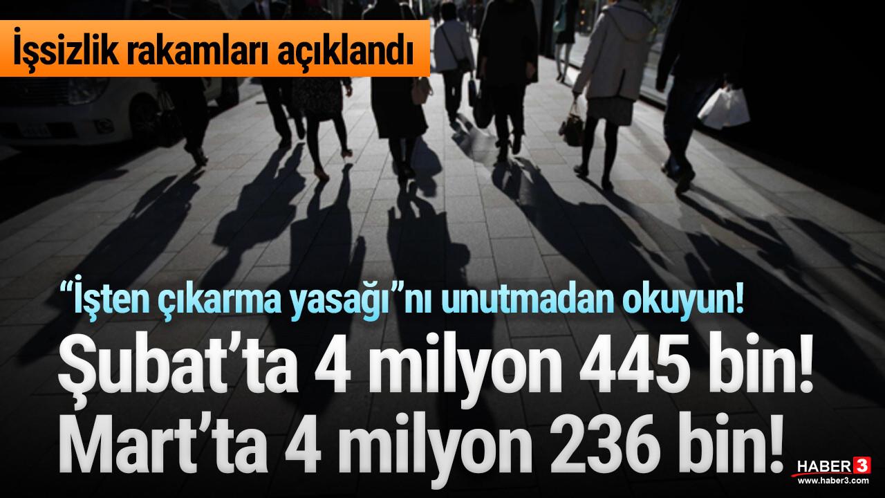Merakla beklenen Mart ayı işsizlik rakamları açıklandı