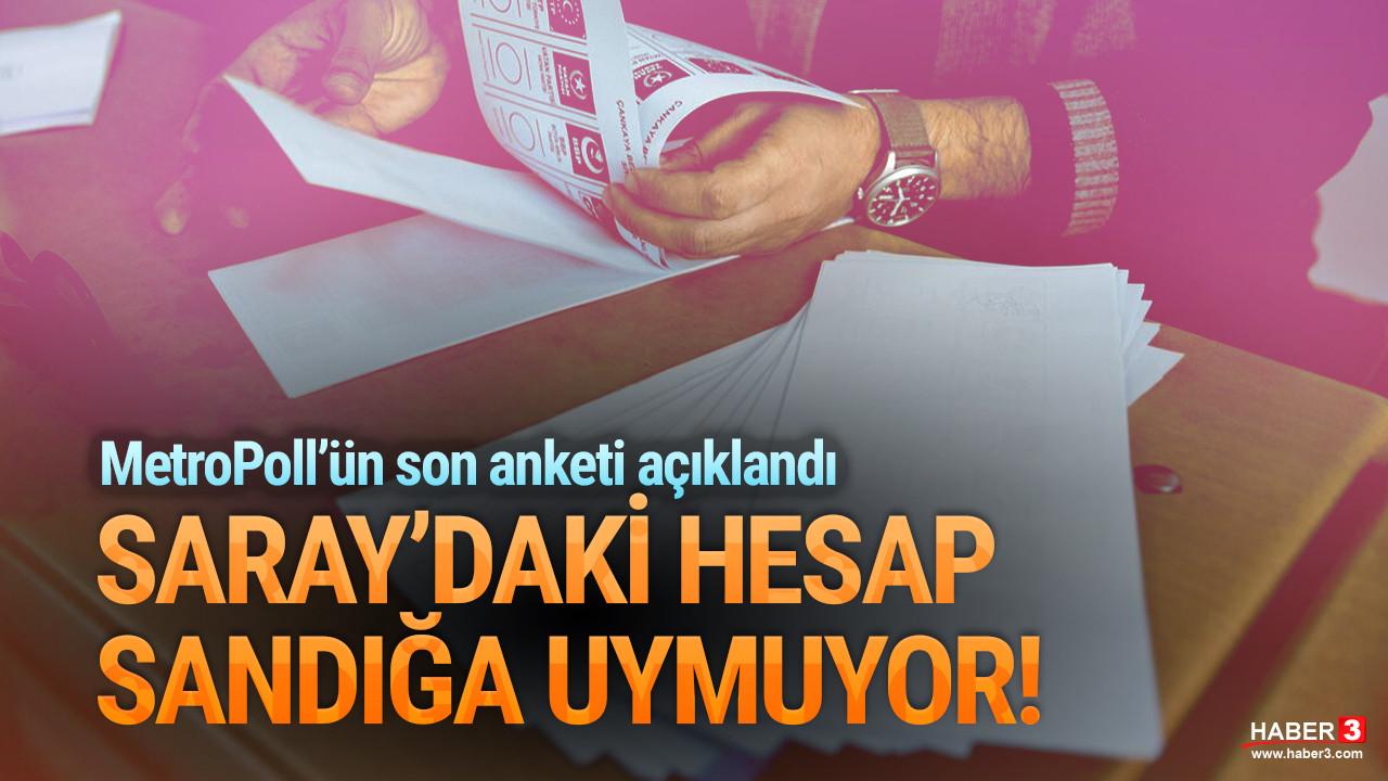 Cumhur İttifakı Metropoll anketinde çöktü!