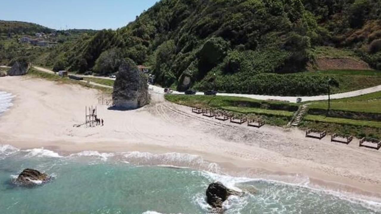 Şile sahilinde tepki çeken görüntü