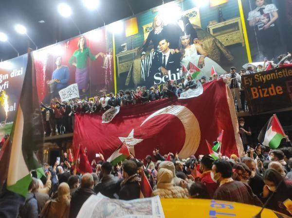 İsrail'e öfke yasak tanımadı! Binlerce kişi Filistin için sokaktaydı! - Resim: 3