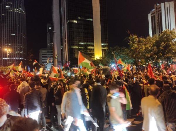 İsrail'e öfke yasak tanımadı! Binlerce kişi Filistin için sokaktaydı! - Resim: 2
