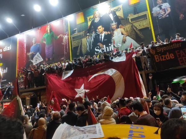 İsrail'e öfke yasak tanımadı! Binlerce kişi Filistin için sokaktaydı! - Resim: 4