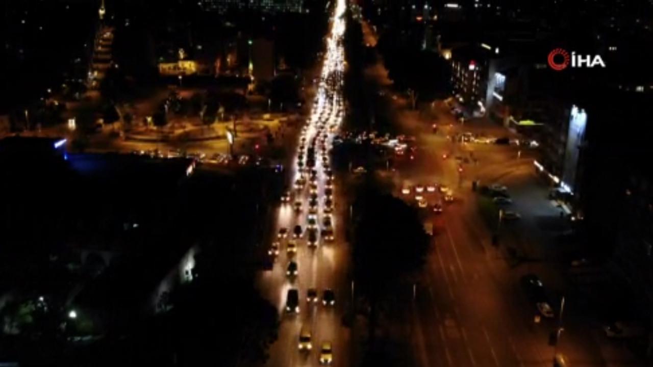 İstanbul'da tam kapanmada Kudüs'e destek konvoyu