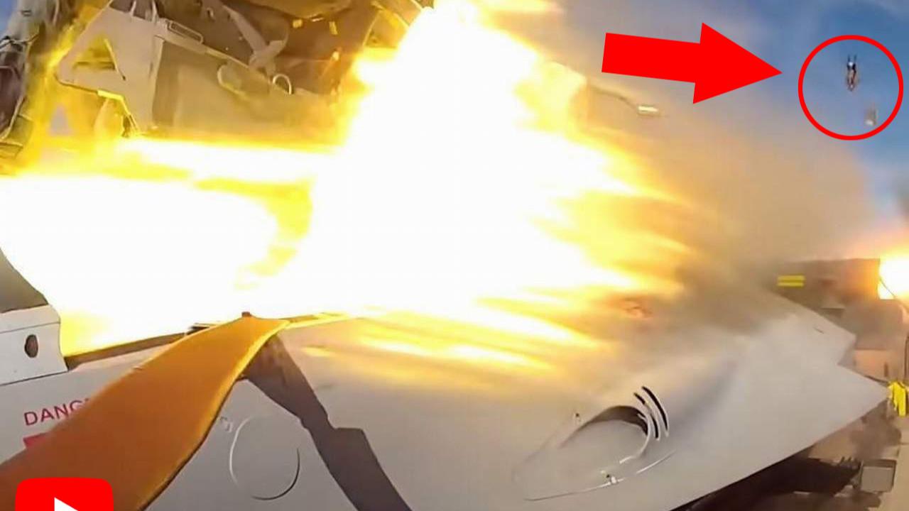 Savaş uçağından böyle fırlatıldı... Saniye saniye görüntülendi