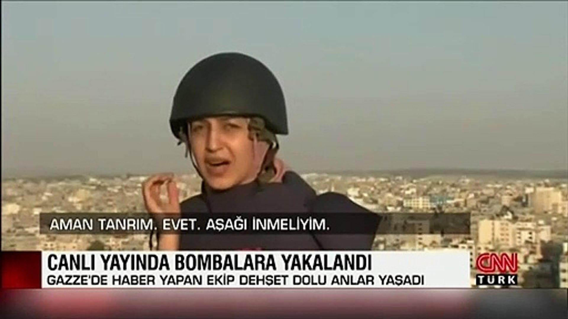 Muhabir canlı yayında ölümden döndü