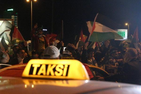 KADEM üyeleri ve taksicilerden İsrail protestosu - Resim: 4