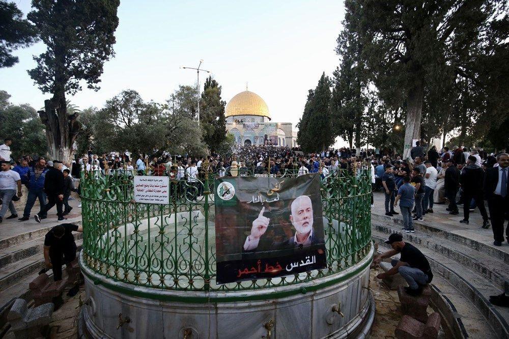 İsrail şiddeti gölgesinde Mescid'i Aksa'da bayram namazı... - Resim: 3