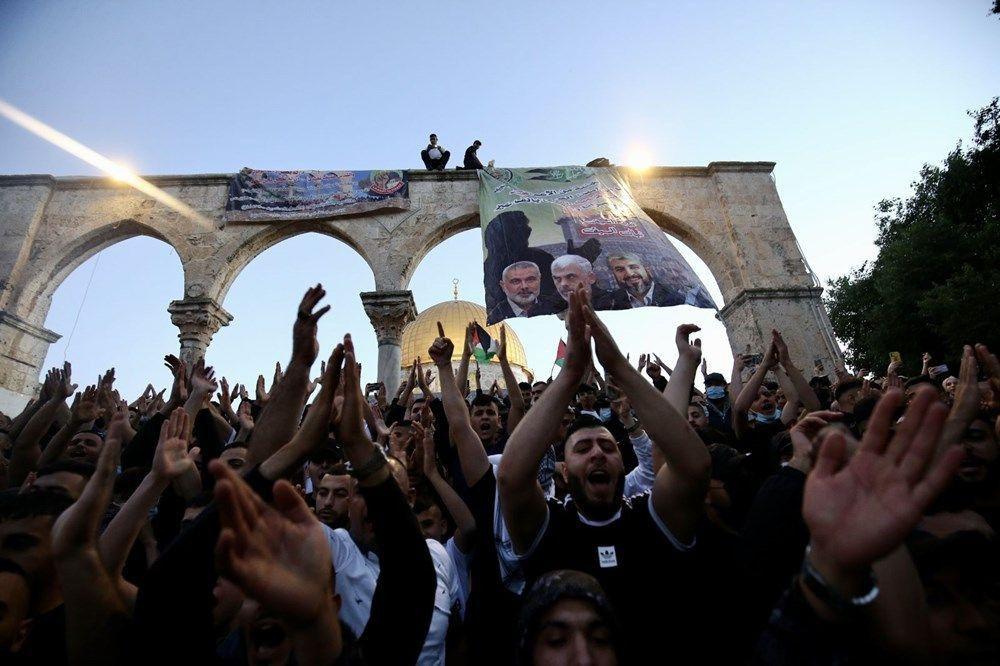 İsrail şiddeti gölgesinde Mescid'i Aksa'da bayram namazı... - Resim: 2