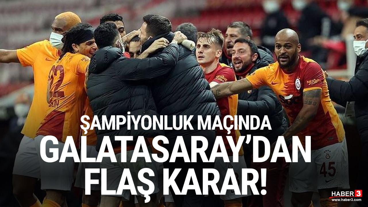 Galatasaray'dan ''seyirci'' kararı