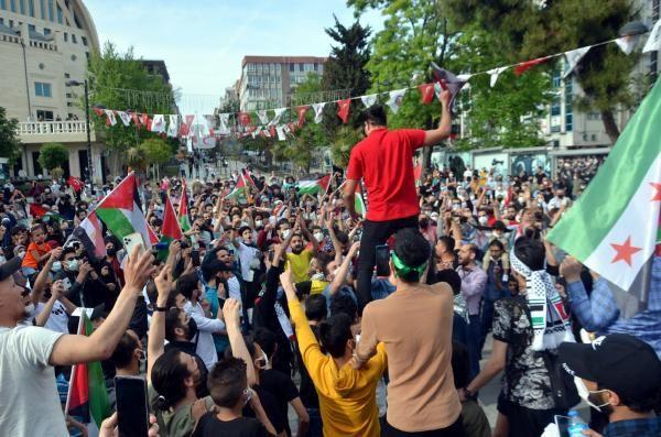 Burası İstanbul... Yüzlerce kişi İsrail'i protesto etti - Resim: 4