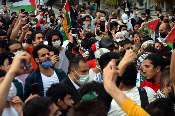 Burası İstanbul... Yüzlerce kişi İsrail'i protesto etti - Resim: 1