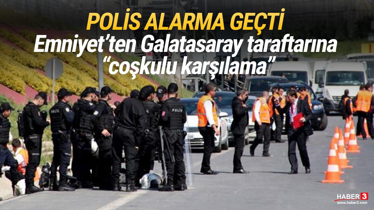 Galatasaray stadı önünde olağanüstü güvenlik önlemi