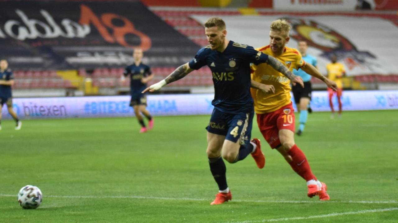 Fenerbahçe, Kayserispor'u 2-1 mağlup etti