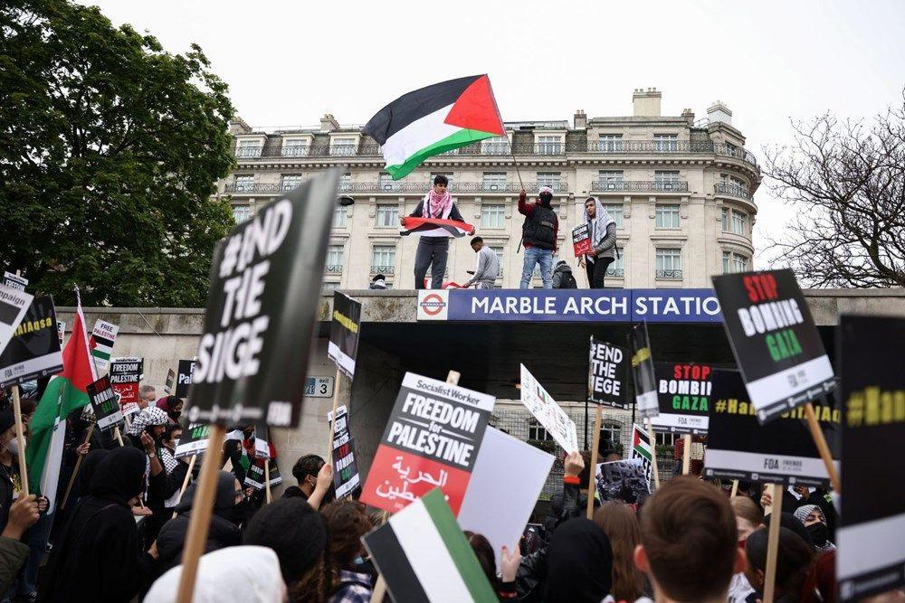 İngiltere'de İsrail protestosu: Yüzlerce kişi sokaklara döküldü - Resim: 2