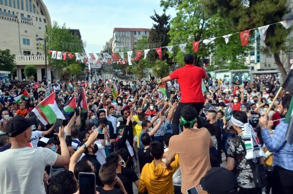 Burası İstanbul... Yüzlerce kişi İsrail'i protesto etti - Resim: 3