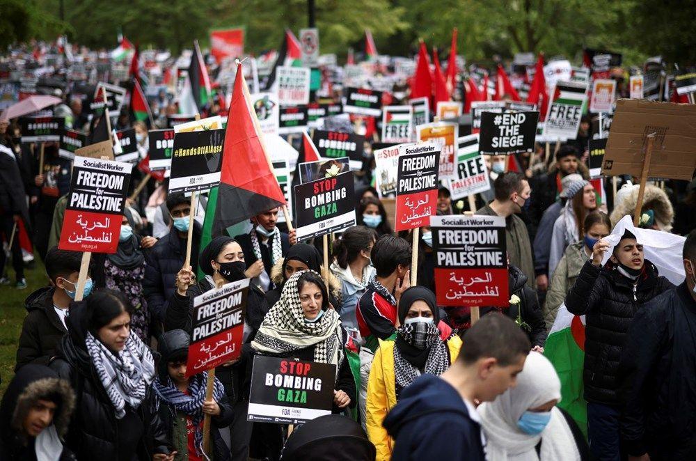 İngiltere'de İsrail protestosu: Yüzlerce kişi sokaklara döküldü - Resim: 1