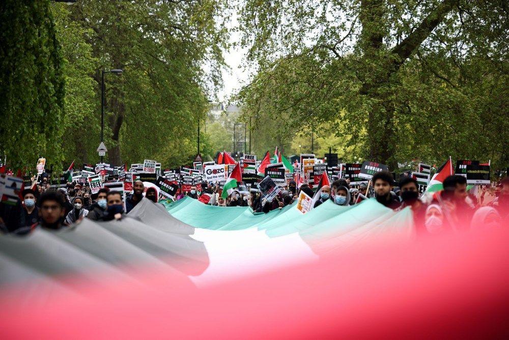 İngiltere'de İsrail protestosu: Yüzlerce kişi sokaklara döküldü - Resim: 3