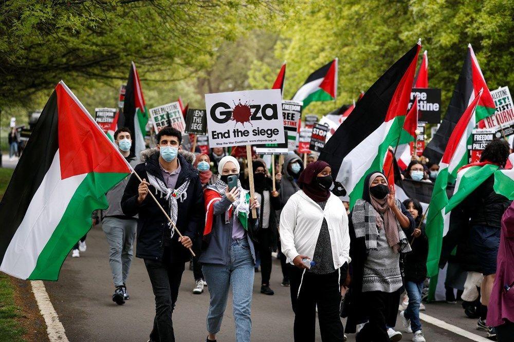 İngiltere'de İsrail protestosu: Yüzlerce kişi sokaklara döküldü - Resim: 4