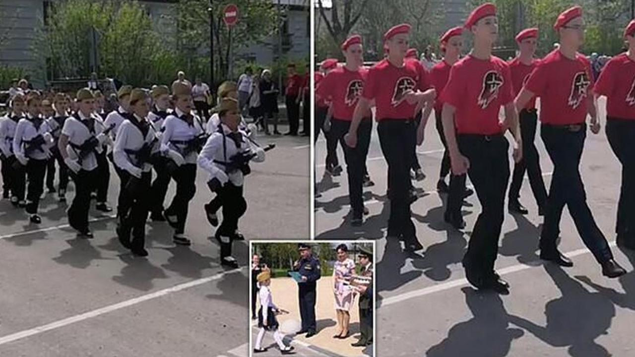 Rusya'nın çocuk askerleri şoke etti