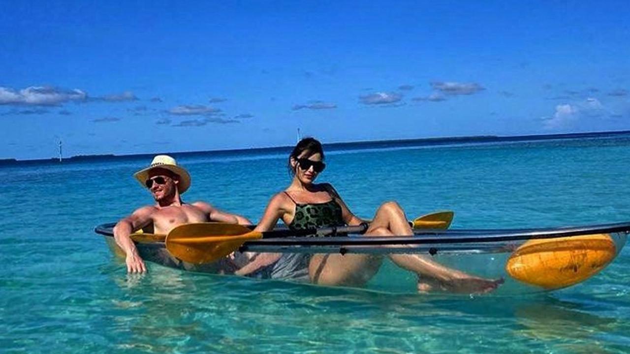 Hande Erçel ve Kerem Bürsin'in Maldivler tatilinden yeni kareler