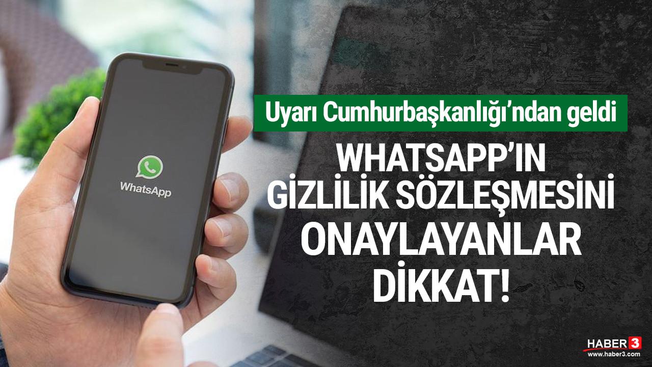 WhatsApp'ın gizlilik sözleşmesini onaylayanlar dikkat