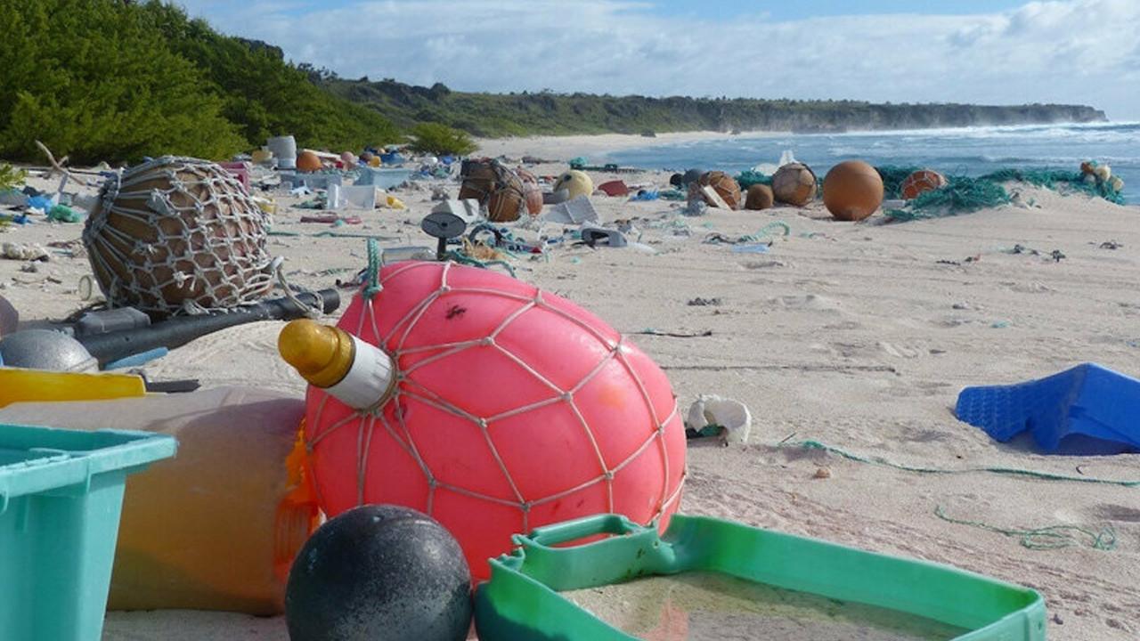 Hiç kimsenin yaşamadığı adada 18 ton çöp bulunuyor