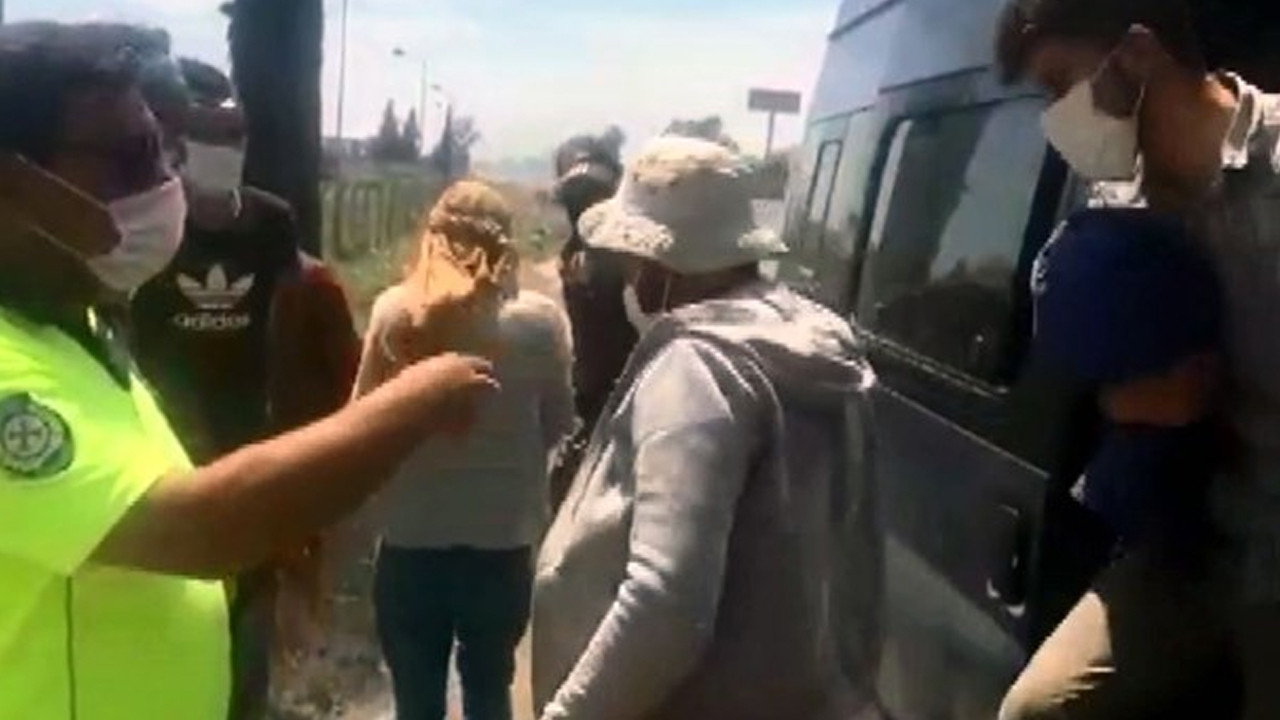 12 kişilik minibüsten 27 kişi çıktı