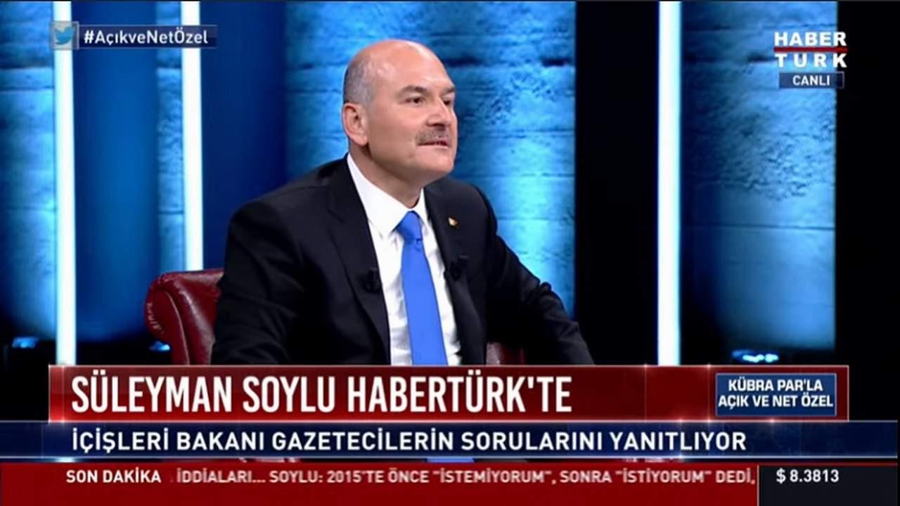 Süleyman Soylu: ''Hadi Özışık'a destek verdim''
