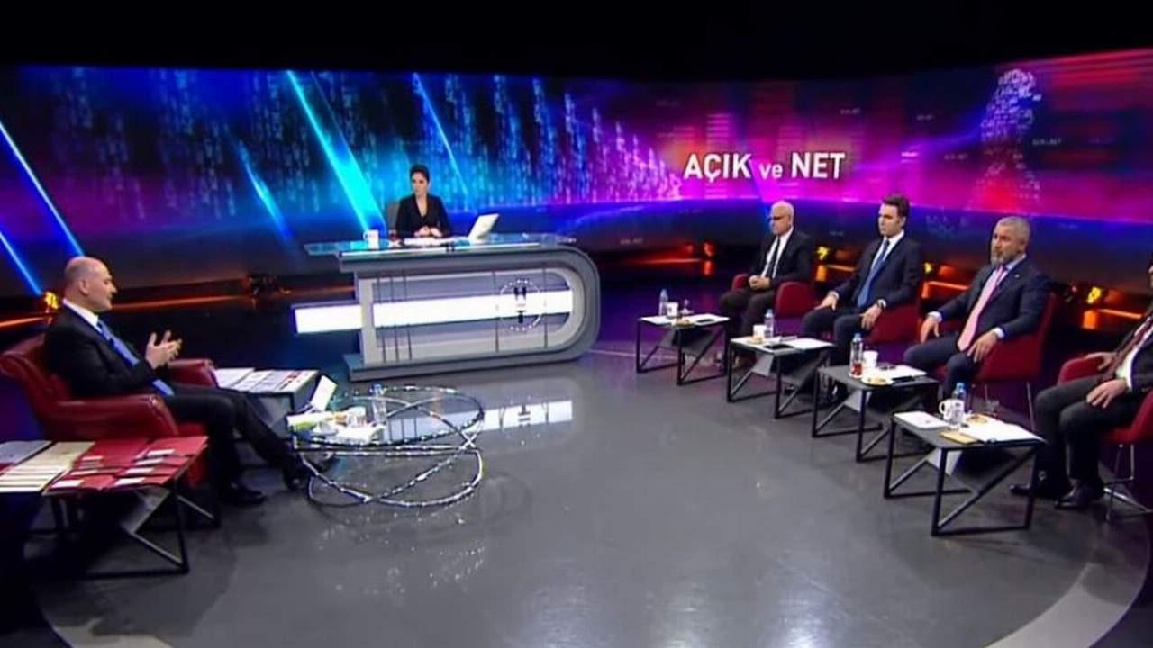 Bakan Soylu'nun Habertürk yayınında kim kaç dakika konuştu?