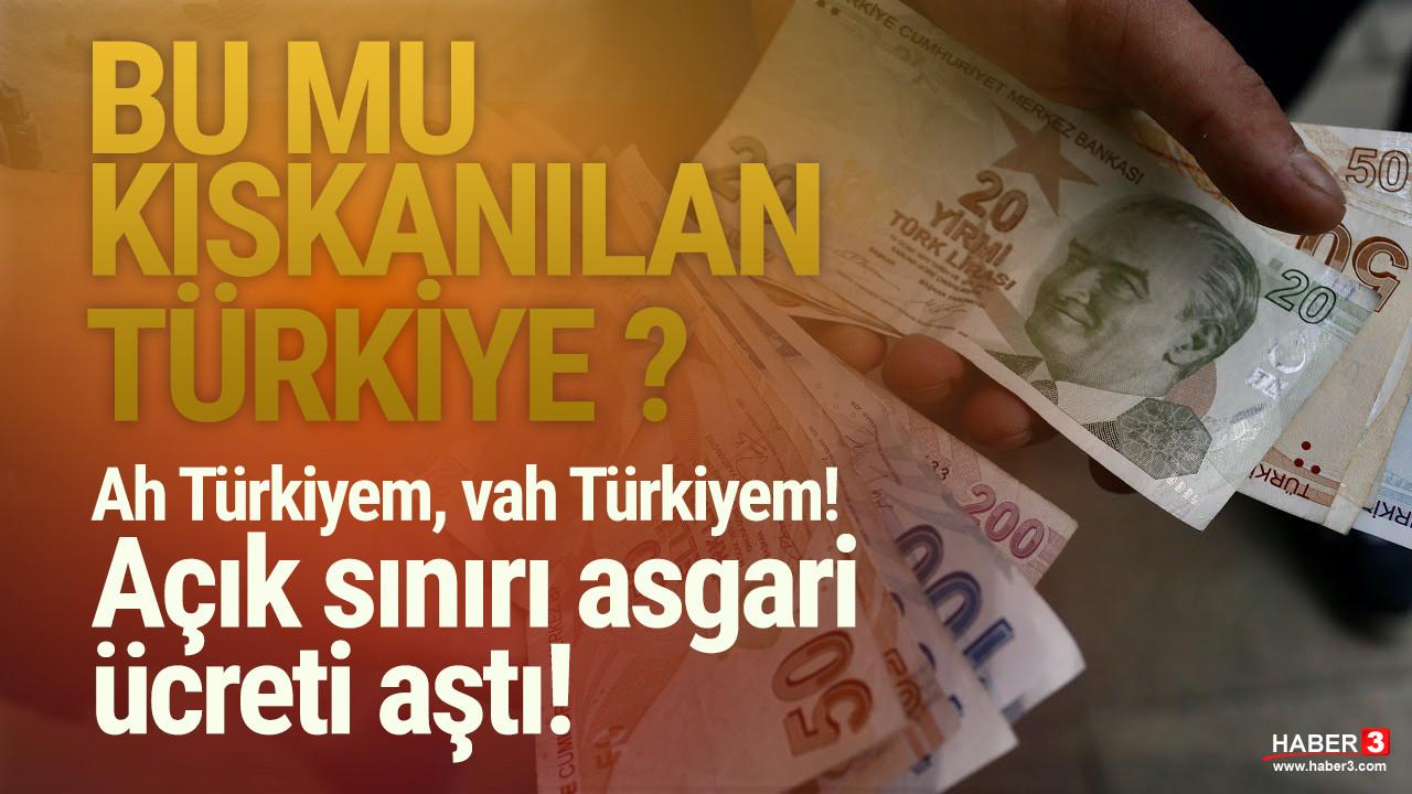 Ah Türkiyem vah Türkiyem! Türk-İş'in açlık sınırını açıkladı: Asgari ücreti geçti