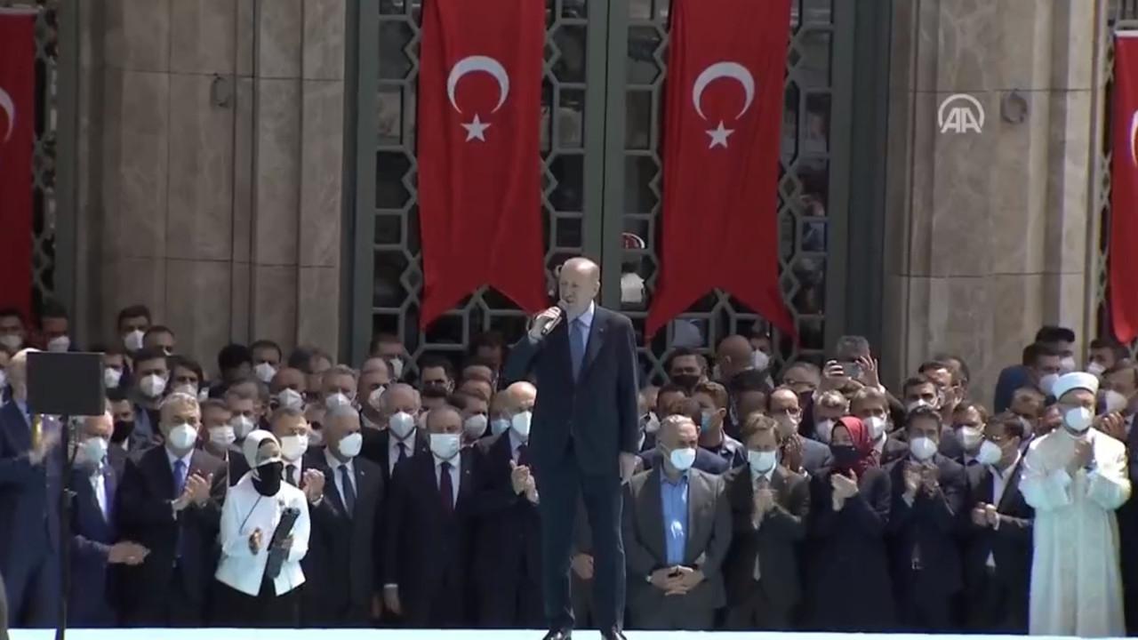Taksim camii açıldı; Erdoğan'dan ilk açıklama