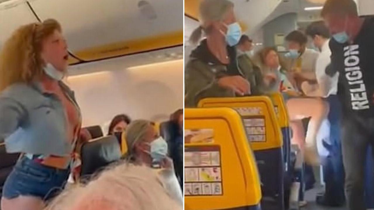 Yine uçak yine bir kavga: Kadın yolcu öfkeden deliye döndü